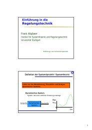 Einführung in die Technische Kybernetik - uni-stuttgart - Universität ...