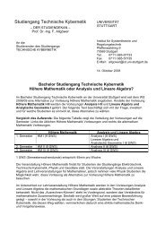 Bachelor Studiengang Technische Kybernetik - uni-stuttgart ...