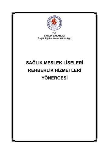 Sağlık Meslek Liseleri Rehberlik Hizmetleri Yönergesi - İstanbul İl ...