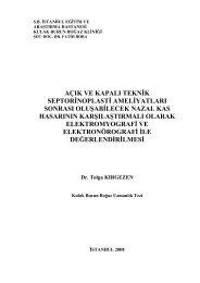 AÇIK VE KAPALI TEKNİK SEPTORİNOPLASTİ AMELİYATLARI ...