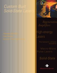 Custom Built Solid-State Lasers