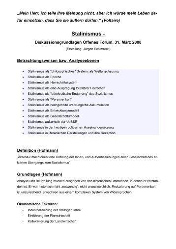 Stalinismus - Kennzeichen - DIE LINKE. Berlin