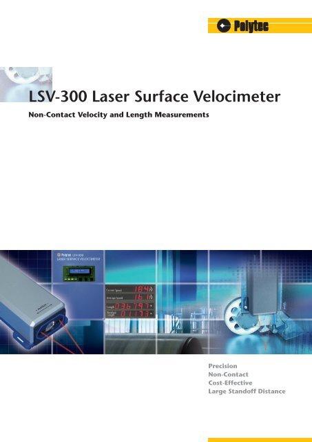 LSV-300 Laser Surface Velocimeter
