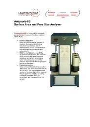 Autosorb-6B Surface Area and Pore Size Analyzer