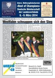Löwen Classics 2014 - Turnierzeitung vom Freitag