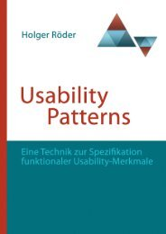 Usability Patterns - Institut für Softwaretechnologie - Universität ...