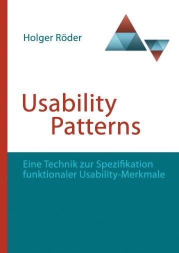 Usability Patterns - Institut für Softwaretechnologie - Universität ...