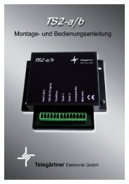 Bedienungsanleitung - Telegärtner Elektronik GmbH