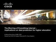 The Blurring of Everything Internet - JUCC Information Security Task ...