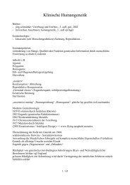 Klinische Humangenetik