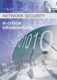 in critical infrastructures