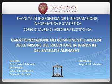 Caratterizzazione dei componenti e analisi delle misure del ...