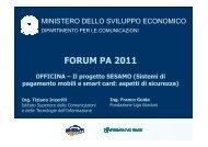 Il progetto SESAMO (Sistemi di pagamento mobili e smart card ...