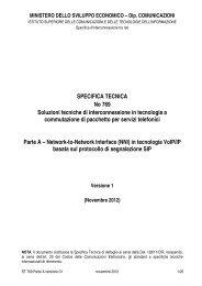 specifica tecnica - ISCOM - Istituto Superiore delle Comunicazioni e ...