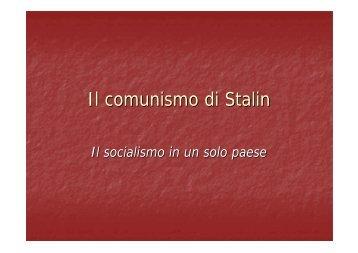 Il comunismo di Stalin - Istituto Sant'Anna