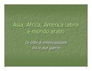 Asia, Africa, America latina e mondo arabo - Istituto Sant'Anna