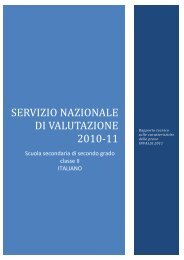 Scuola secondaria di secondo grado - classe II - Italiano - Invalsi