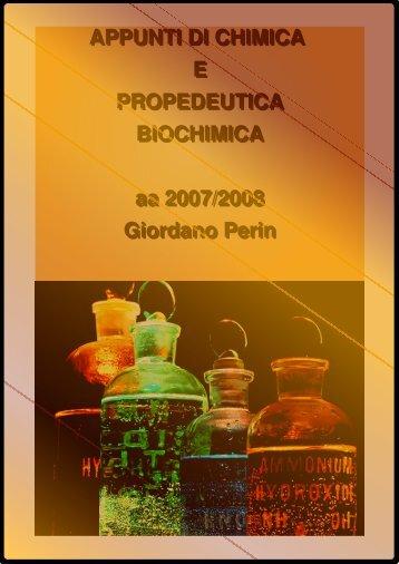 Chimica propedeutica biochimica di Giordano Perin. Un altro bel ...