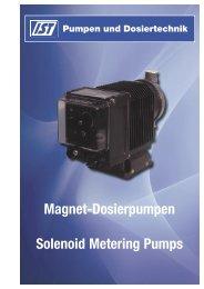 Prospekt Magnet-Dosierpumpen - IST Pumpen und Dosiertechnik