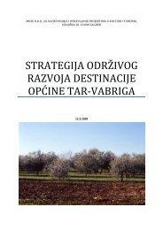 strategija održivog razvoja destinacije općine tar-vabriga - Istra