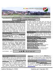 Nachrichtenblatt 19/2011 vom 5. September 2011 - Steiermark ist ...