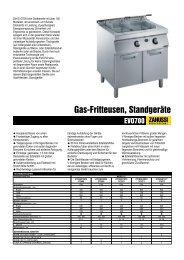 Gas-Fritteusen, Standgeräte - Electrolux
