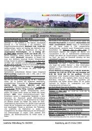 Amtliche Mitteilung Nr. 04/2010 Kumberg, Am 15 - Steiermark ist super