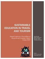 Sustainable Education in travel and tourism - International Society of ...