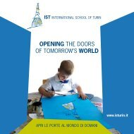 opening the doors of tomorrow's world - The International School of ...