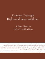 Campus Copyright Rights and Responsibilities: - Association of ...