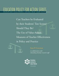 EDUCATION POLICY FOR ACTION SERIES - Annenberg Institute ...