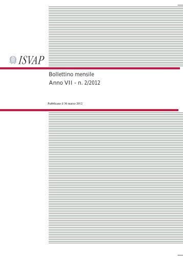 Bollettino mensile Anno VII - n. 2/2012 - Isvap