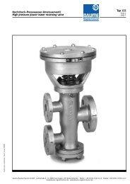 Hochdruck-Presswasser-Umsteuerventil Typ 122 - Daume ...