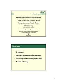Konzept zur chemisch-physikalischen Fließgewässer-Überwachung ...