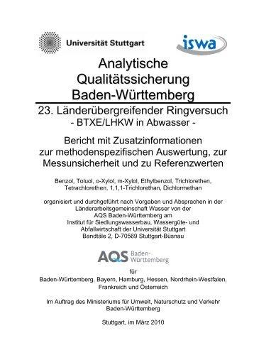 ausführlicher Auswertebericht - Institut für Siedlungswasserbau ...