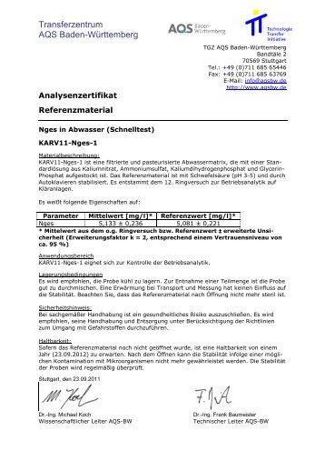 Transferzentrum AQS Baden-Württemberg
