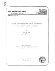 Surface Water-groundwater Quality Relationships for a Central ...