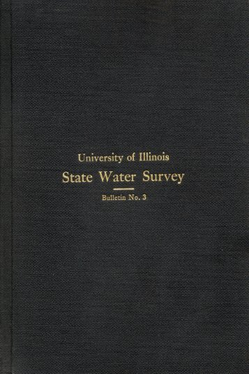 chemical and biological survey of the waters of illinois - Illinois State ...