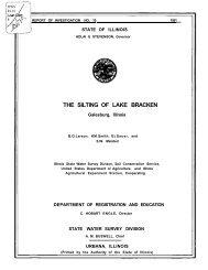The silting of Lake Bracken, Galesburg, Illinois. Urbana, IL : Illinois ...