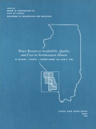 Water Resources Availability, Quality, and Cost in Northeastern Illinois
