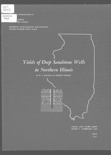 Yields of Deep Sandstone Wells in Northern Illinois - Illinois State ...