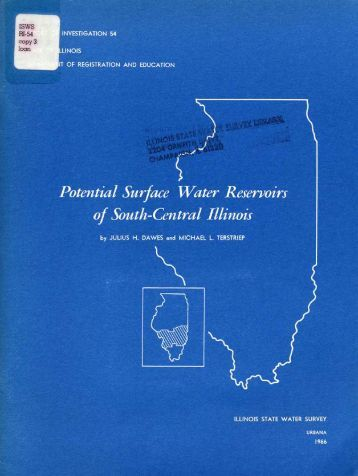 Potential surface water reservoirs of south-central Illinois.