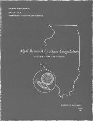 Algal removal by alum coagulation - Illinois State Water Survey