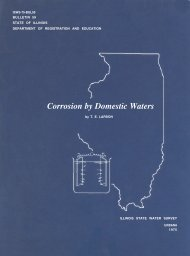 Corrosion by Domestic Waters - Illinois State Water Survey