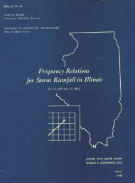 Frequency relations for storm rainfall in Illinois. - Illinois State Water ...
