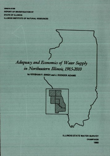 report of investigation 97 - Illinois State Water Survey