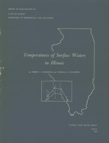 Temperatures of surface waters in Illinois. - Illinois State Water Survey