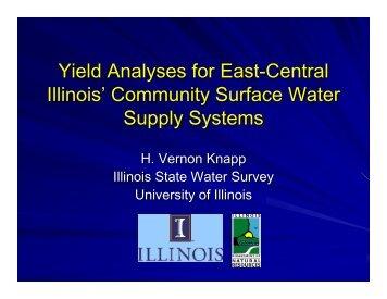 EC IL Reservoir Yields - Illinois State Water Survey