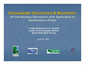 Groundwater Occurrence & Movement - Illinois State Water Survey