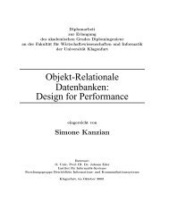 Objekt-Relationale Datenbanken: Design for Performance